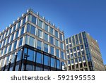 modern office building | Shutterstock . vector #592195553