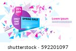 spring sale shopping special... | Shutterstock .eps vector #592201097