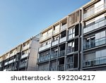 modern  luxury apartment...   Shutterstock . vector #592204217