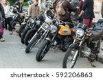 different types of motorcycles... | Shutterstock . vector #592206863