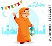 vector illustration of happy...   Shutterstock .eps vector #592212257