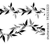 vector seamless borders  black... | Shutterstock .eps vector #592213223