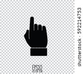 hand indicating the direction.... | Shutterstock .eps vector #592214753