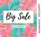 vector big sale banner  poster... | Shutterstock .eps vector #592216997