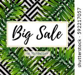 vector big sale banner  poster... | Shutterstock .eps vector #592217057