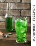 Small photo of Refreshing Green Lime Soda Pop in an Iced Glass