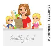 organic healthy food for all... | Shutterstock .eps vector #592228433