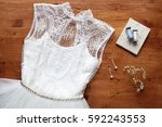 wedding concept   wedding dress ... | Shutterstock . vector #592243553
