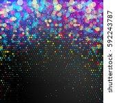 vector confetti. colorful... | Shutterstock .eps vector #592243787