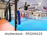 interior of a boxing hall | Shutterstock . vector #592244123