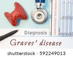 endocrinology diagnosis graves' ... | Shutterstock . vector #592249013