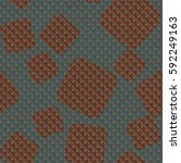 seamless pattern. rounded... | Shutterstock .eps vector #592249163
