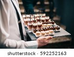 catering service chocolate... | Shutterstock . vector #592252163