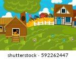 cartoon illustration of...   Shutterstock . vector #592262447