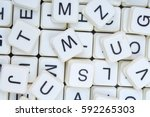 letters as background.3d block... | Shutterstock . vector #592265303