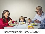uncaring parents  | Shutterstock . vector #592266893