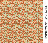 endless abstract pattern.... | Shutterstock .eps vector #592269437