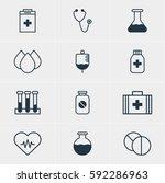 illustration of 12 medical... | Shutterstock . vector #592286963