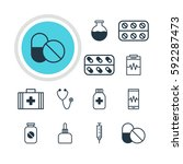 illustration of 12 medical... | Shutterstock . vector #592287473