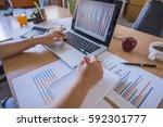 working process startup.... | Shutterstock . vector #592301777
