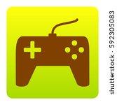 joystick simple sign. vector.... | Shutterstock .eps vector #592305083