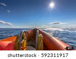 Rigid Inflatable Boat Out On...
