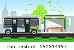 public transport is efficient... | Shutterstock .eps vector #592314197