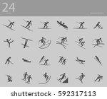 eps10 vector set of 24 winter... | Shutterstock .eps vector #592317113