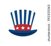 united states patriotic symbol... | Shutterstock .eps vector #592325363