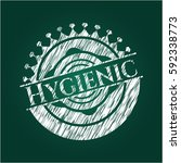hygienic chalk emblem | Shutterstock .eps vector #592338773
