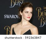 emma watson at the los angeles... | Shutterstock . vector #592363847