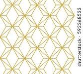 art deco seamless background. | Shutterstock .eps vector #592368533
