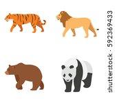 mammals vector icons | Shutterstock .eps vector #592369433