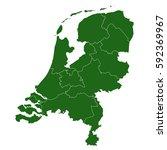 netherlands green map   Shutterstock .eps vector #592369967