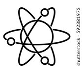 atom icon with orbits the... | Shutterstock .eps vector #592381973