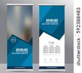 roll up business brochure flyer ...   Shutterstock .eps vector #592388483