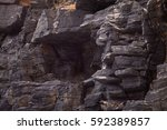 Rock Cliff On The Side Of...