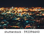 true tilt shift shooting of... | Shutterstock . vector #592396643