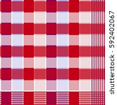 fabric native pattern cloth of... | Shutterstock .eps vector #592402067