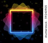 vector   rainbow square border... | Shutterstock .eps vector #59240905
