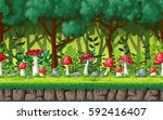 seamless nature background with ... | Shutterstock .eps vector #592416407
