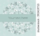 vector greeting card with... | Shutterstock .eps vector #592419713