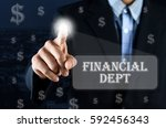business man pointing hand on... | Shutterstock . vector #592456343