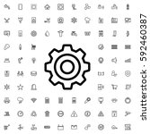 gear icon illustration isolated ... | Shutterstock .eps vector #592460387