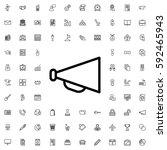 megaphone icon illustration... | Shutterstock .eps vector #592465943