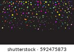 confetti poster. abstract... | Shutterstock .eps vector #592475873