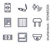 area icons set. set of 9 area... | Shutterstock .eps vector #592485203