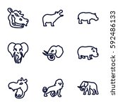 safari icons set. set of 9... | Shutterstock .eps vector #592486133