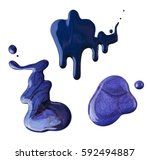 blue nail polish spilled on a... | Shutterstock . vector #592494887