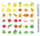 colorful fruits  logo  symbol ... | Shutterstock .eps vector #592499717